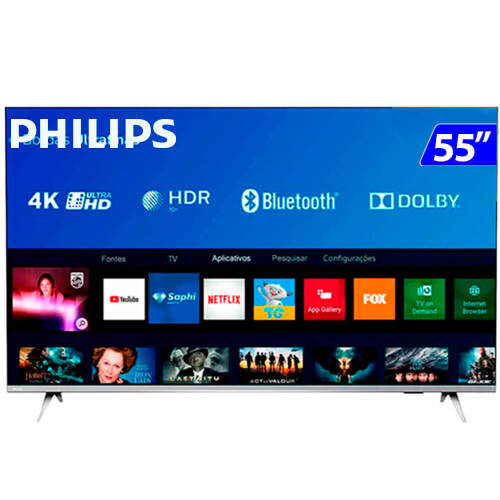 Foto - TV 55P PHILIPS LED SMART 4K USB HDMI