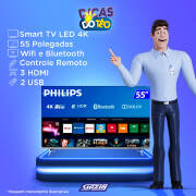 Miniatura - TV 55P PHILIPS LED SMART 4K USB HDMI