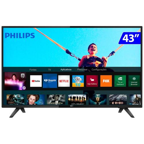 Foto - TV 43P PHILIPS LED SMART WIFI FULL HD USB