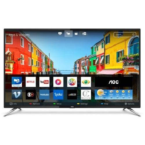 Foto - TV 50P AOC LED SMART 4K WIFI USB HDMI