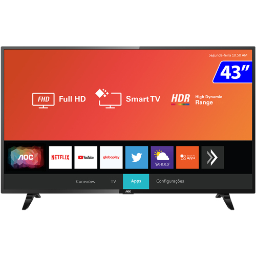 Foto - TV 43P AOC LED SMART WIFI FULL HD USB HDMI