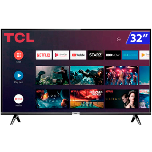 Foto - TV 32P TCL LED SMART WIFI HD COMANDO DE VOZ (MH)