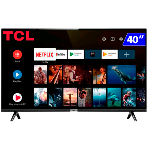 Foto - TV 40P TCL LED SMART FULL HD HDMI USB COMANDO DE VOZ (MH)