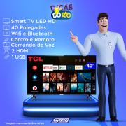 Miniatura - TV 40P TCL LED SMART FULL HD HDMI USB COMANDO DE VOZ (MH)