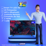 Miniatura - TV 43P TCL LED SMART FULL HD COMANDO VOZ (MH)