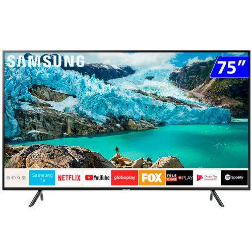 Foto - TV 75P SAMSUNG LED SMART 4K WIFI USB HDMI
