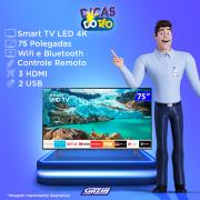 Miniatura - TV 75P SAMSUNG LED SMART 4K WIFI USB HDMI