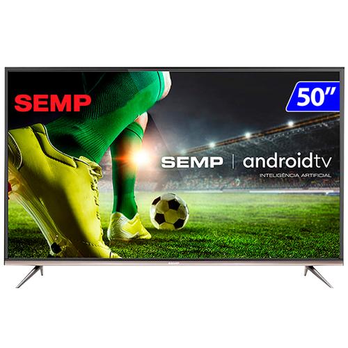 Foto - TV 50P SEMP LED SMART 4K COMANDO DE VOZ