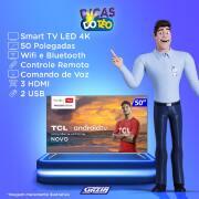 Miniatura - TV 50P TCL LED SMART 4K ANDROID COMANDO DE VOZ