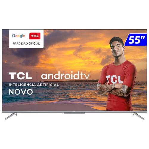 Foto - TV 55P TCL LED SMART 4K ANDROID COMANDO DE VOZ