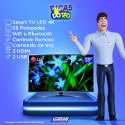 Miniatura - TV 55P LG LED SMART 4K WIFI USB HDMI COMANDO VOZ