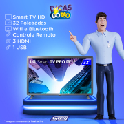 Miniatura - TV 32P LG LED SMART WIFI HD USB HDMI (MH)