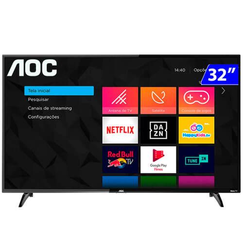 Foto - TV 32P AOC LED SMART WIFI HD HDMI