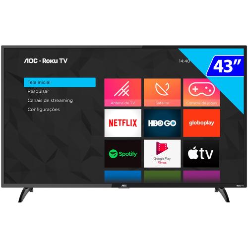Foto - TV 43P AOC LED SMART WIFI FULL HD USB HDMI
