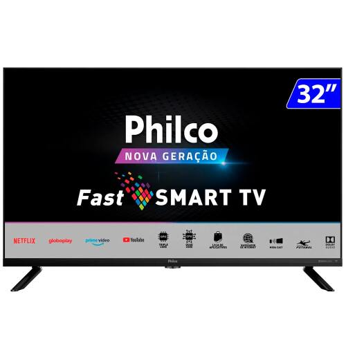 Foto - TV 32P PHILCO LED SMART HD WIFI