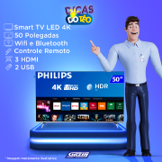 Miniatura - TV 50P PHILIPS LED SMART 4K USB HDMI