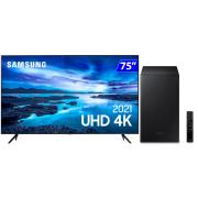 Foto de SMART TV 75P SAMSUNG 4K LED E SOUNDBAR SAMSUNG 320WATS BLUETOOTH