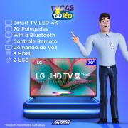 Miniatura - TV 70P LG LED 4K SMART WIFI COMANDO VOZ