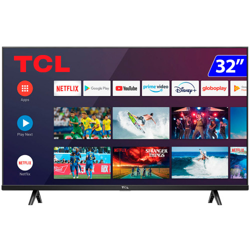 Foto - TV 32P TCL LED SMART WIFI HD COMANDO DE VOZ