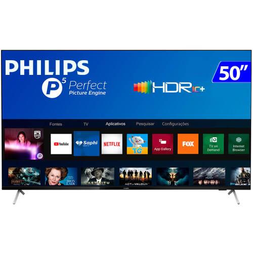 Foto - TV 50P PHILIPS LED SMART 4K USB HDMI
