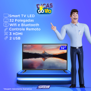 Miniatura - TV 32P MULTILASER LED SMART WIFI HD USB HDMI