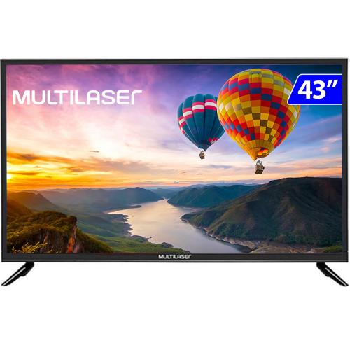 Foto - TV 43P MULTILASER LED SMART WIFI FULL HD USB HDMI