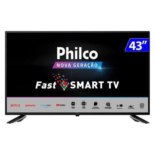 Foto - TV 43P PHILCO LED SMART WIFI HD USB HDMI