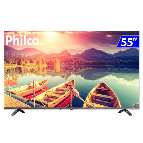 Foto - TV 55P PHILCO LED SMART WIFI HD USB HDMI