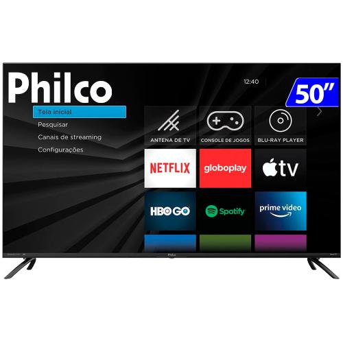 Foto - TV 50P PHILCO LED SMART 4K WIFI HD USB HDMI