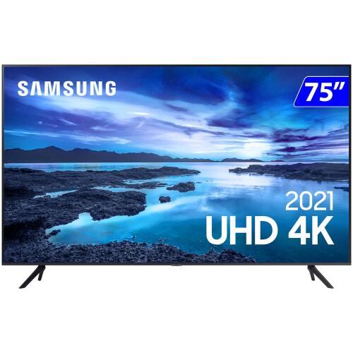 Foto - TV 75P SAMSUNG LED SMART 4K WIFI COMANDO DE VOZ