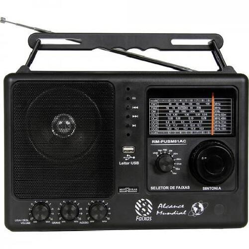 Foto - RADIO MOTOBRAS 8 FAIXAS USB FM/OC