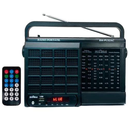 Foto - RADIO MOTOBRAS 7 FAIXAS BLUETOOTH USB AM/FM/OC