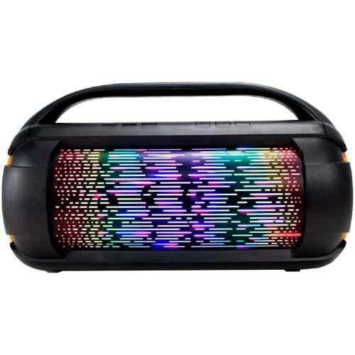 Foto - CAIXA DE SOM SUMAY 60W FIRE BOX BLUETOOTH FM LED