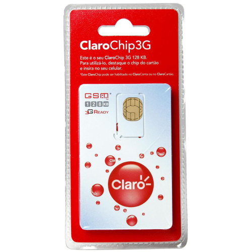 Foto - CHIP CLARO SIM CARD TRIPLO CORTE REMOTO