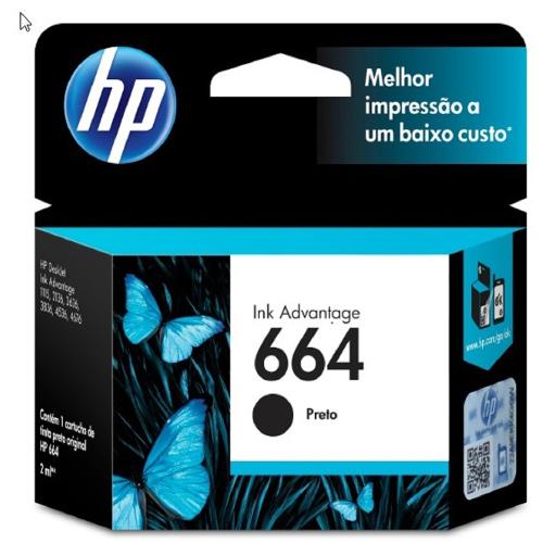 Foto - CARTUCHO DE TINTA HP 664 PRETO