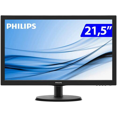 Foto - MONITOR PHILIPS LED 21,5 223V5LHSB2 WIDE HDMI