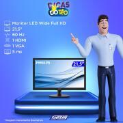 Miniatura - MONITOR PHILIPS LED 21,5 223V5LHSB2 WIDE HDMI