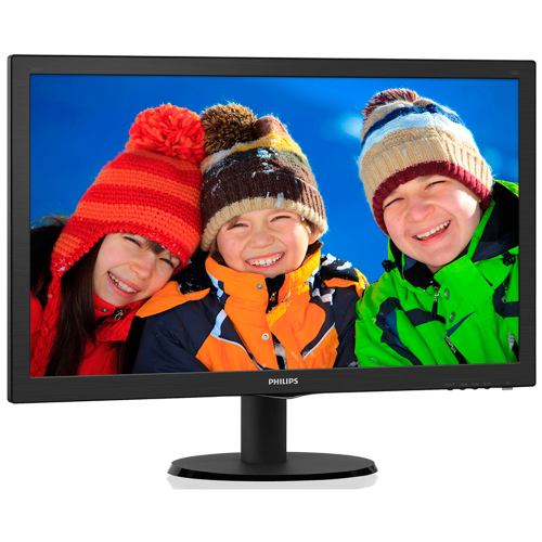 Foto - MONITOR LED PHILIPS 243V5QHAB 23.6P HDMI SPEAKER