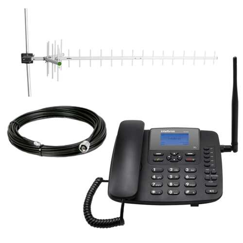 Foto - Celular Rural Intelbras GSM CFA-4212 Dual C/Kit