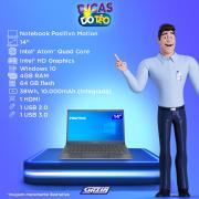 Miniatura - NOTEBOOK POSITIVO MOTION 14P QUAD 4GB 64GB SSD W10