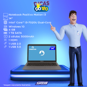 Miniatura - NOTEBOOK POSITIVO MOTION 14P i3-7020U 4GB 1TB W10