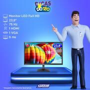 Miniatura - MONITOR LG LED 23,8P 24Mk430H IPS HDMI FULL HD