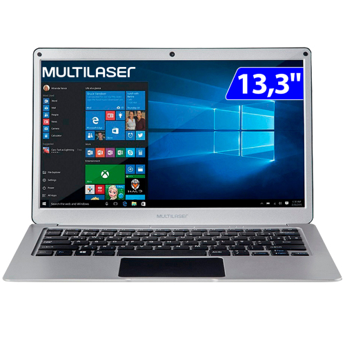 Foto - NOTEBOOK MULTILASER 13.3P INTEL DUAL CORE 4GB 64GBSSD W10