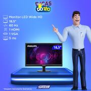 Miniatura - MONITOR PHILIPS LED 18,5 193V5 HDMI VGA VESA