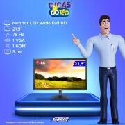 Miniatura - MONITOR LG LED 21,5 22Mk400H WIDE FULLHD HDMI