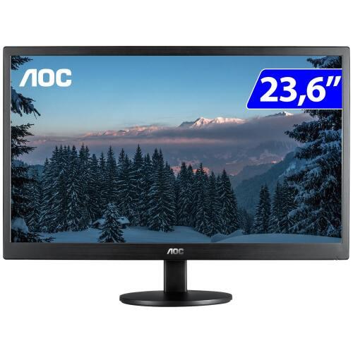 Foto - MONITOR AOC LED M2470SWH2  23.6 HDMI VGA VESA