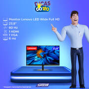 Miniatura - MONITOR LENOVO LED 23,8 FULLHD HDMI C/AJUST ALT