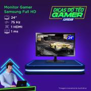 Miniatura - MONITOR SAMSUNG GAMER 24P LS24 HDMI/D-SUB 1MS 75HZ