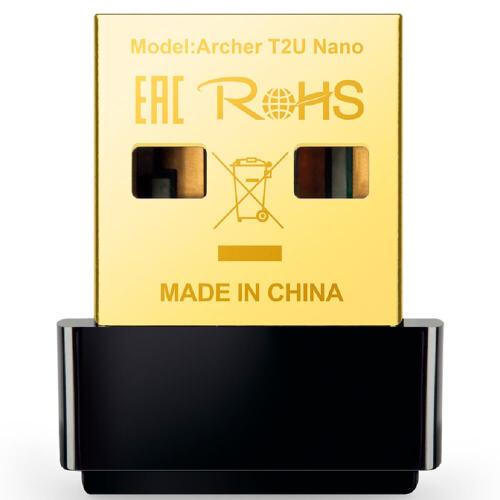 Foto - NANO ADAPTADOR WIRELESS TP-LINK ARCHER T2U USB