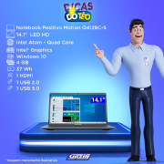 Miniatura - NOTEBOOK POSITIVO MOTION Q 14P QUAD 4GB 128GB W10